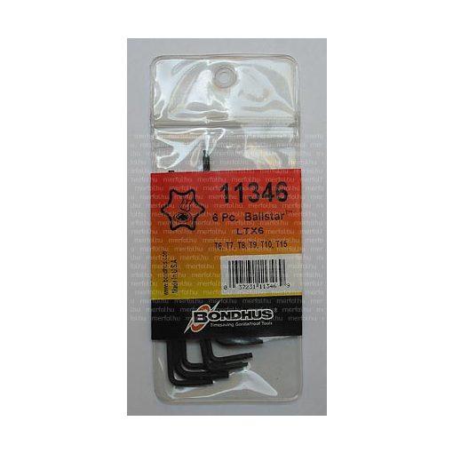 Torx gömbvégű L-kulcs készlet T6-T15