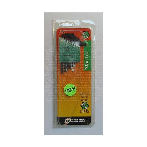 L-kulcs rövid Torx készlet T6-T25