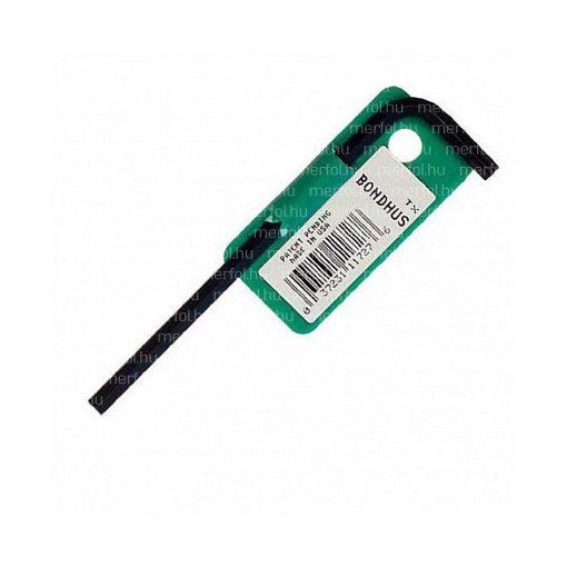 L-TORX kulcs biztonsági (furatos) TR 6