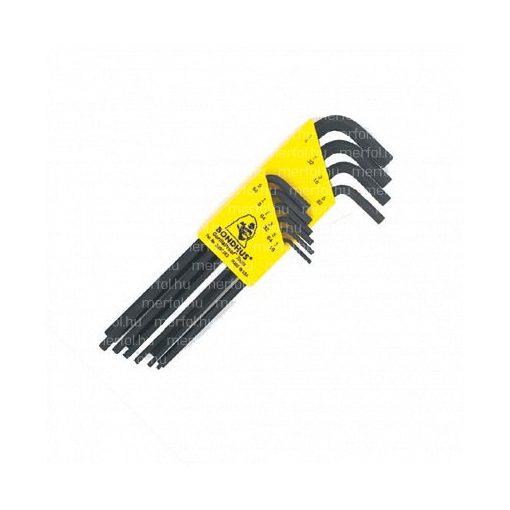 L-hatszögkulcs hosszú egyenesvégű készlet HLX10