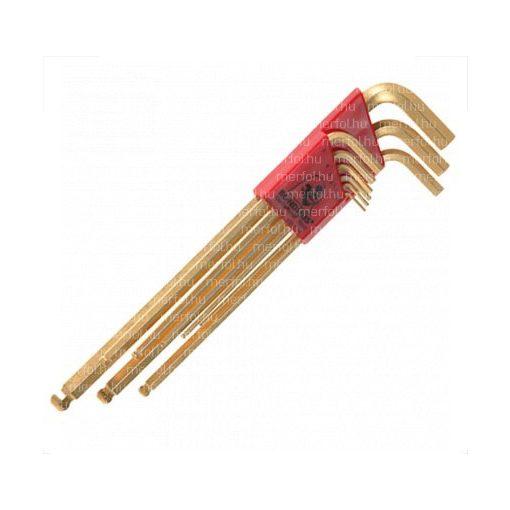 L-hatszögkulcs GoldGuard gömbvégű készlet 1,5-10 mm